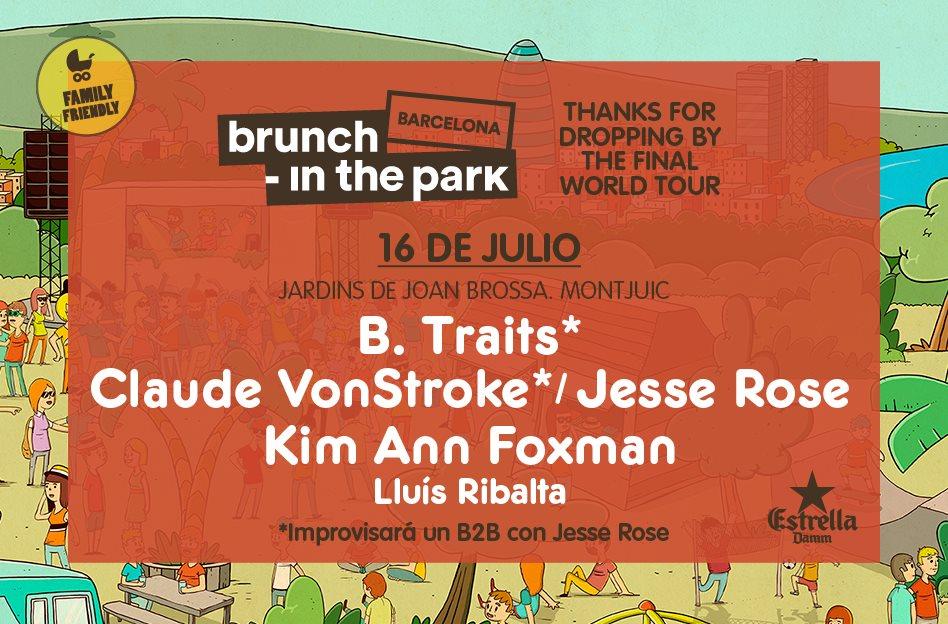 Brunch -In the Park #3: Claude Vonstroke, Jesse Rose, Kim Ann Foxman y más - Flyer back