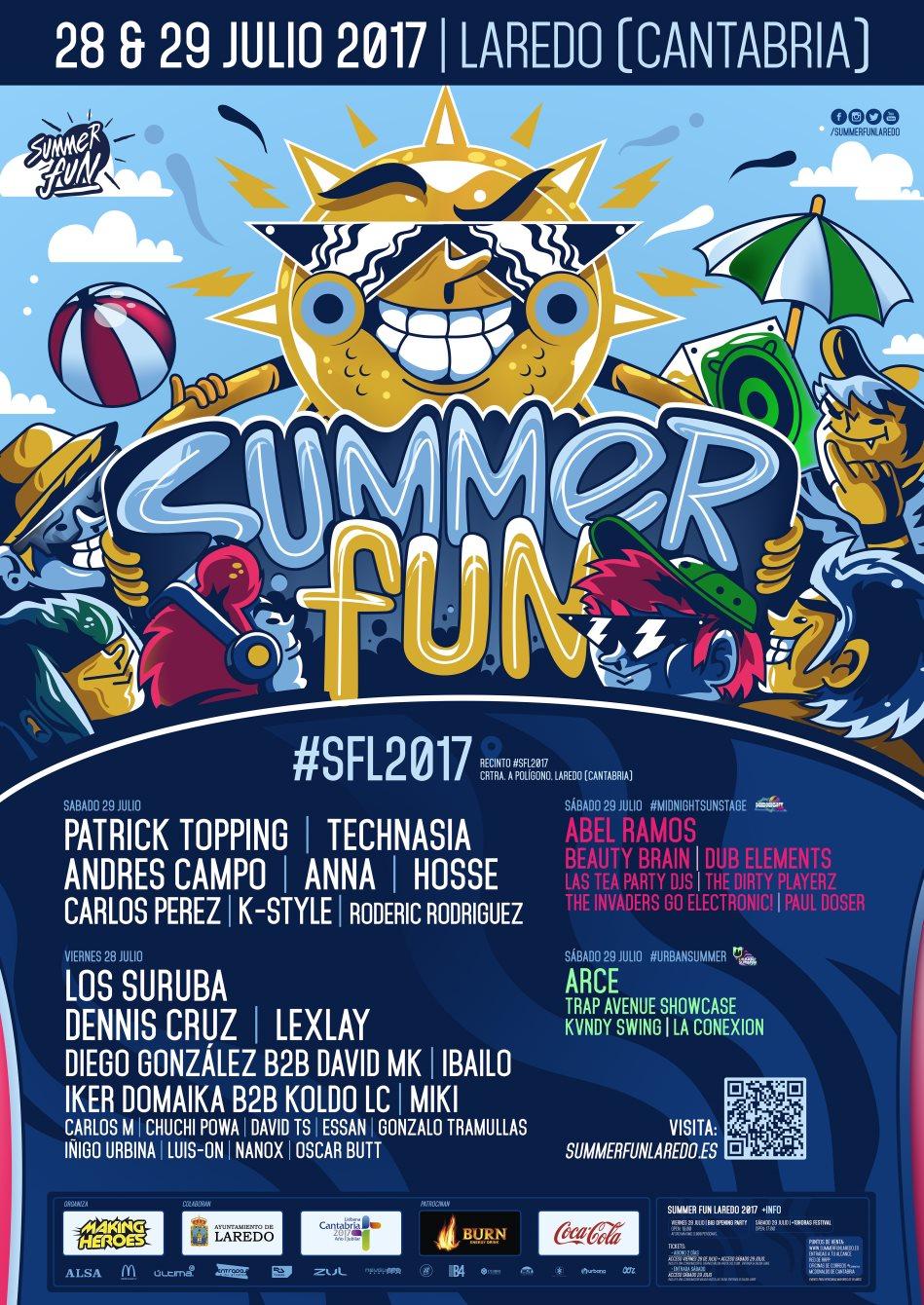 SummerFun Laredo 2017 - Flyer front
