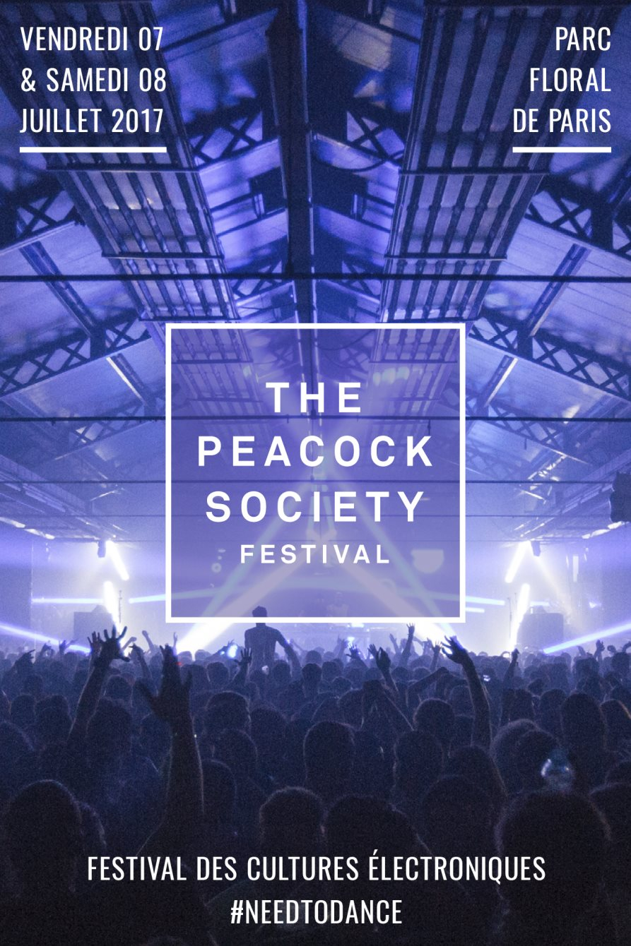 The Peacock Society 2017 - Flyer front