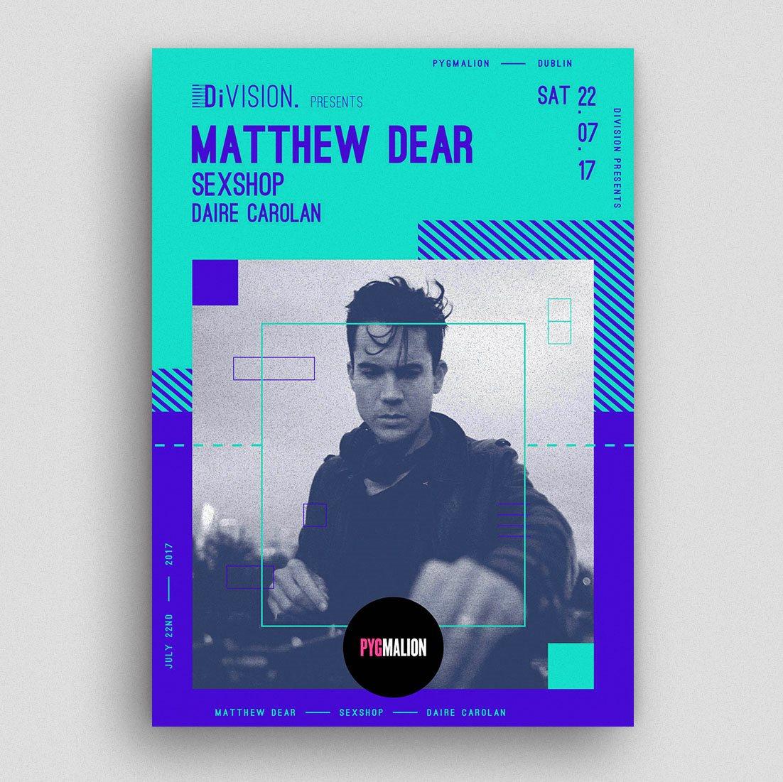 Division presents Matthew Dear - Flyer front