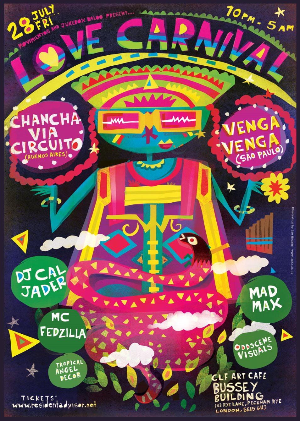 Love Carnival presents Chancha Via Circuito - Flyer back