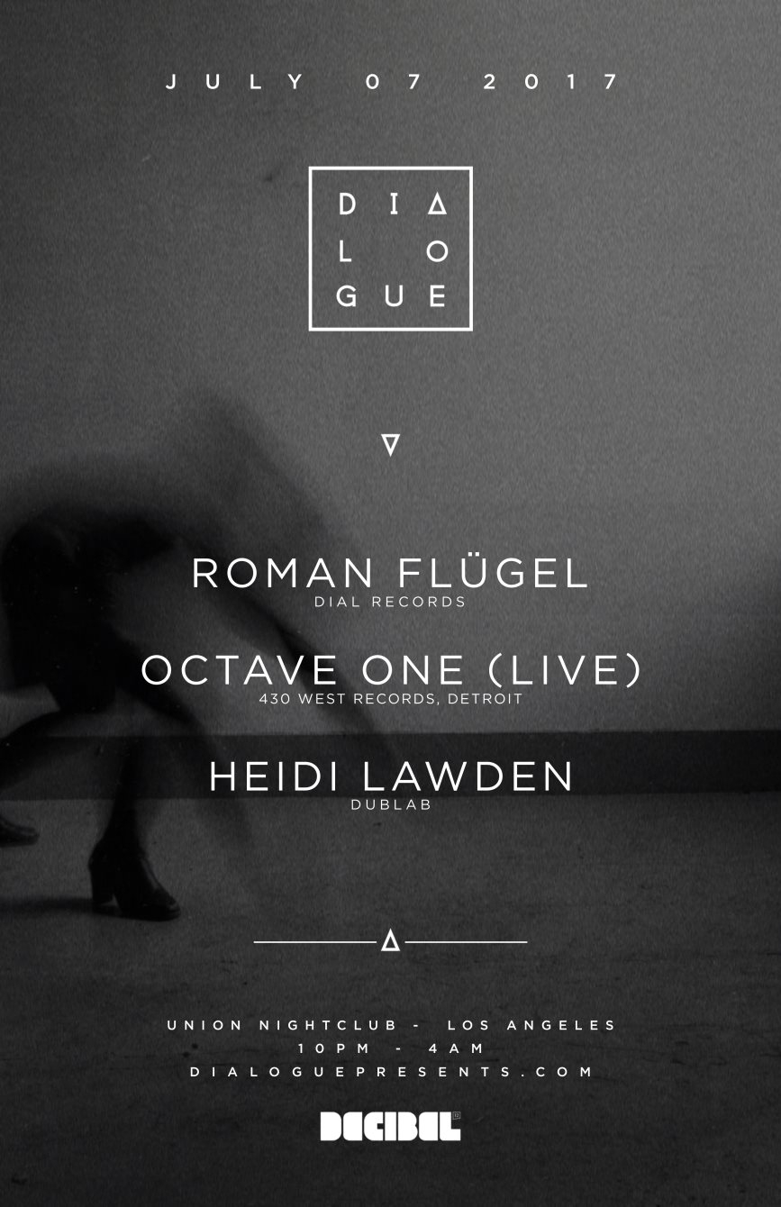 Dialogue Feat. Roman Flügel, Octave One [Pre-Sale Sold Out - Tickets Available At Door] - Flyer back