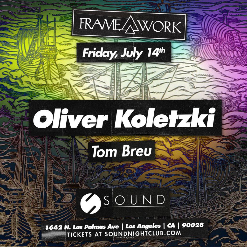 Framework presents Oliver Koletzki - Flyer front