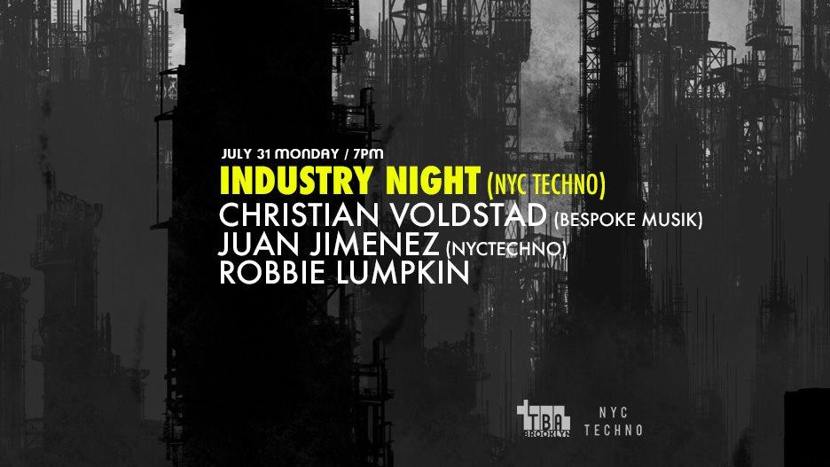 Nyctechno Industry Night with Christian Voldstad / Juan Jimenez - Flyer front