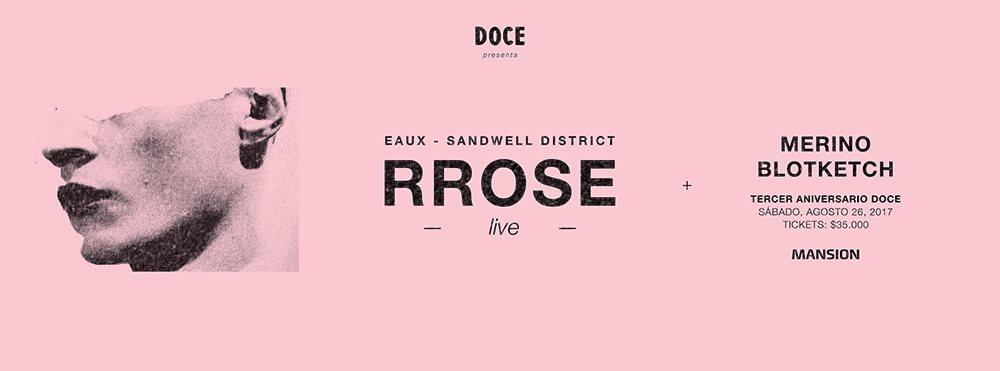 Doce x Rrose - Flyer front