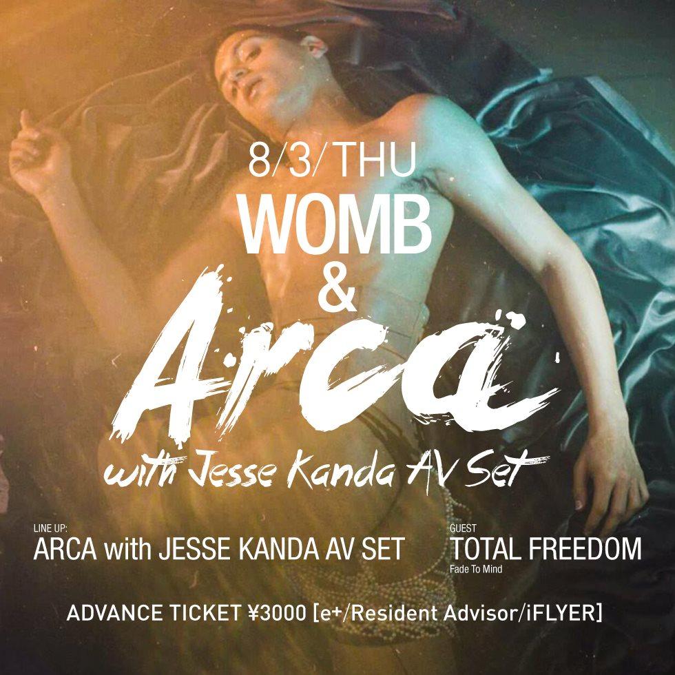 Womb & Arca with Jesse Kanda AV SET - Flyer front