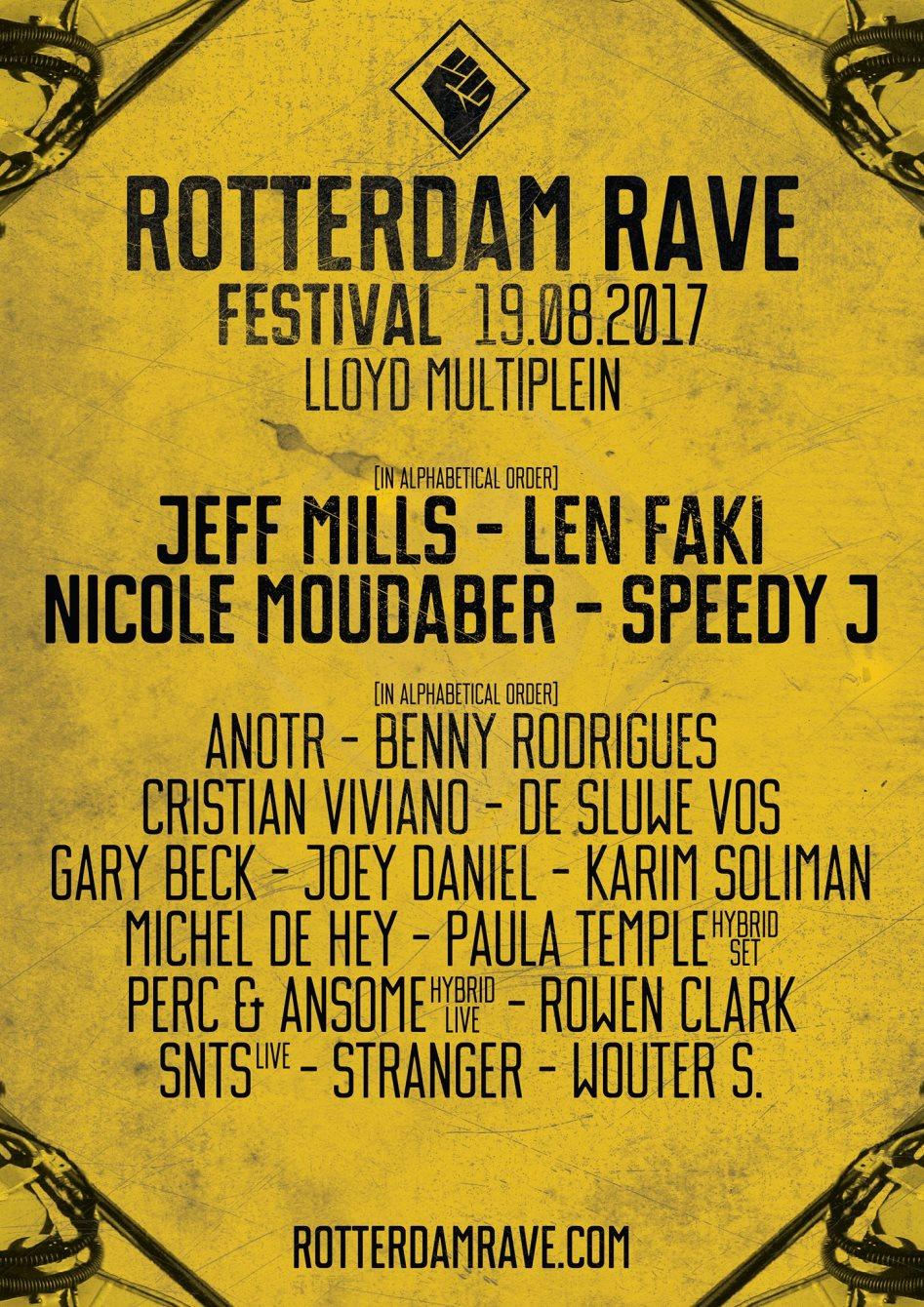 Rotterdam Rave Festival - Flyer front