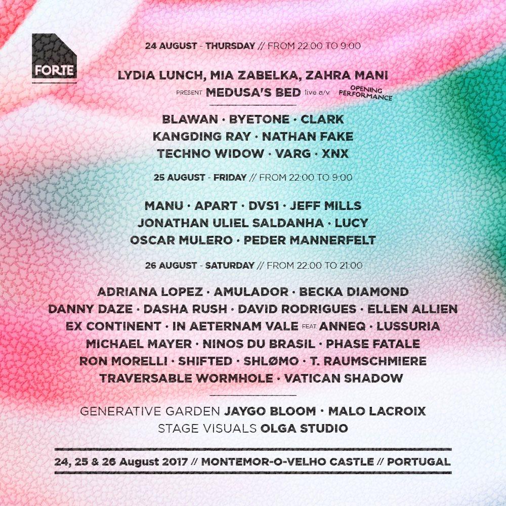 Festival Forte 2017 - Flyer front