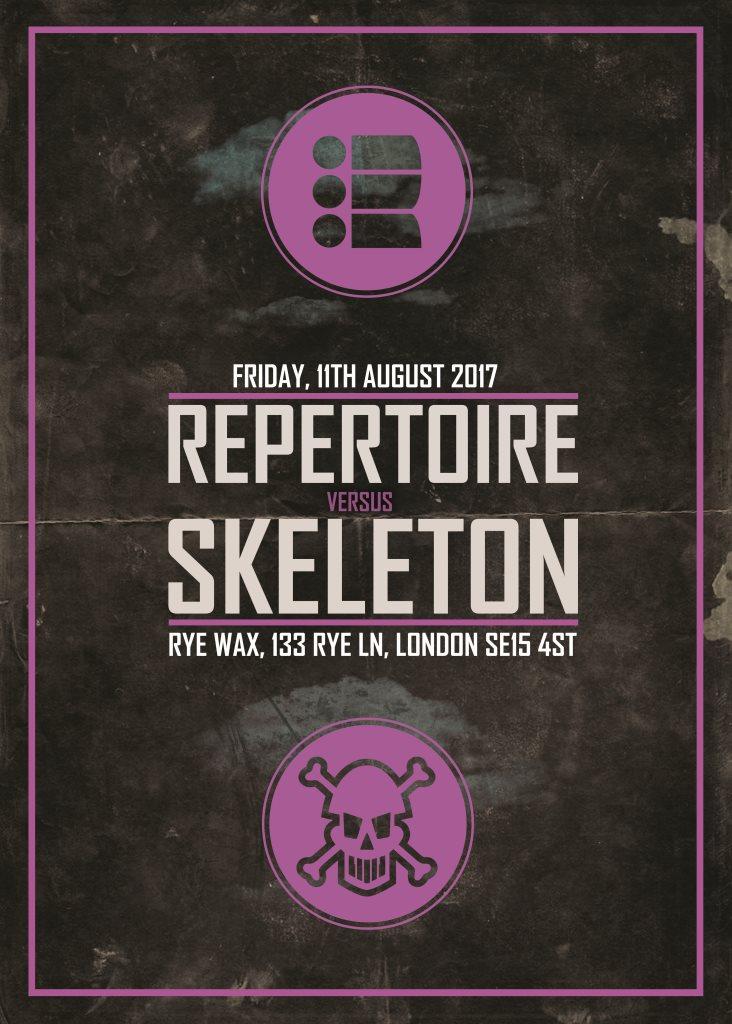 Repertoire vs Skeleton - Flyer front
