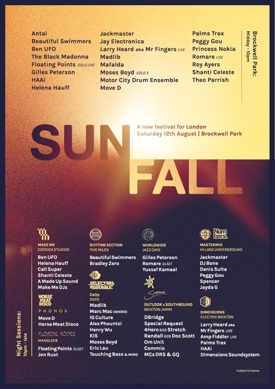 Sunfall Festival 2017 - Flyer front