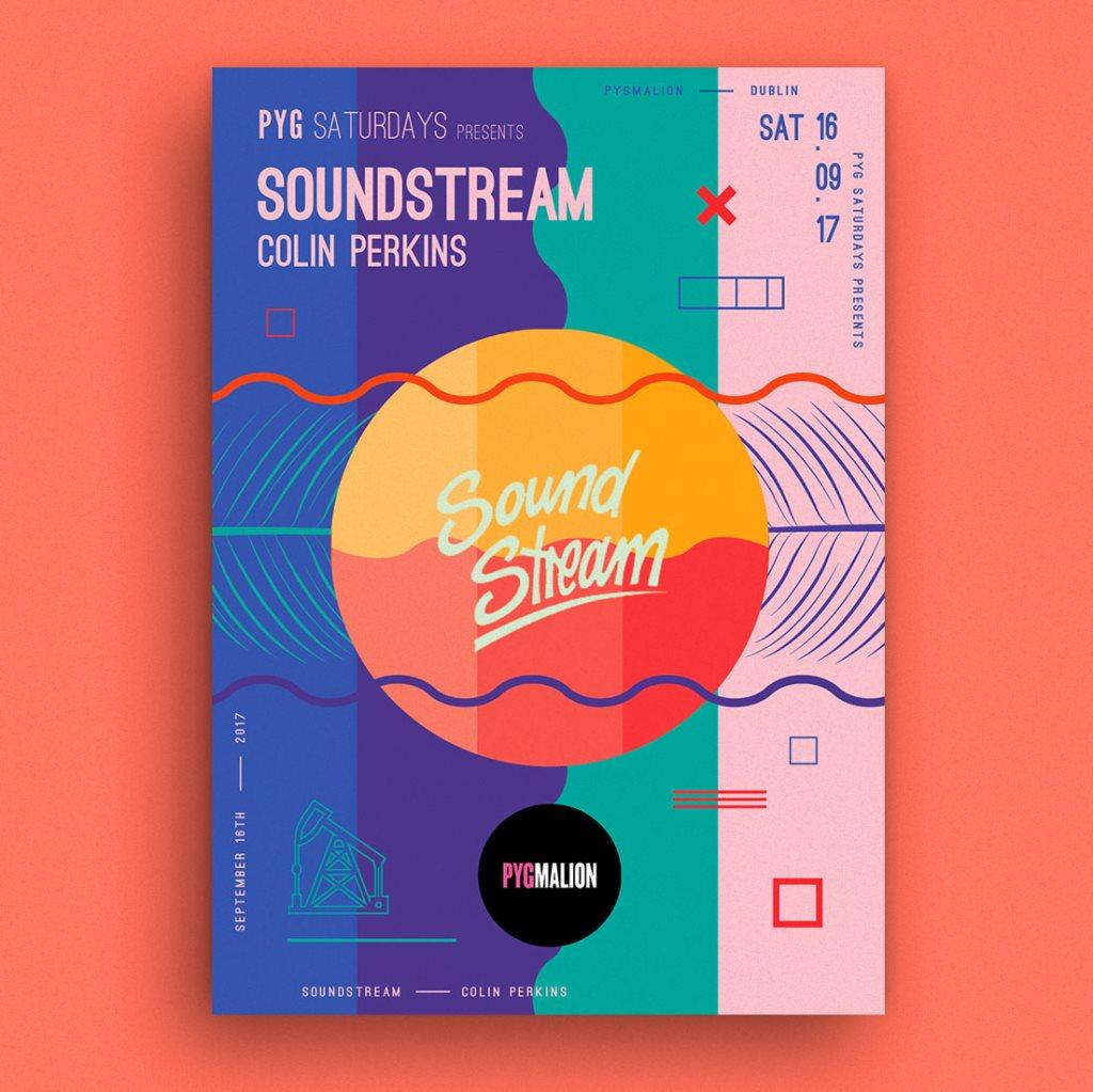 Pyg presents Soundstream - Flyer front
