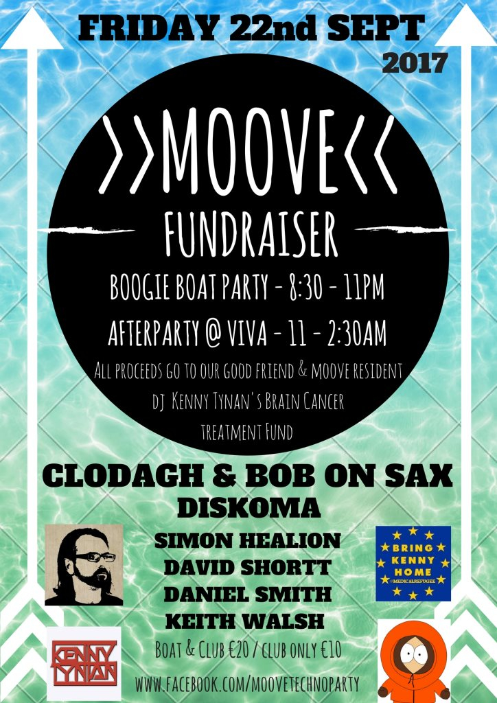 MOOVE Fundraiser Boat & Club Party - Flyer front