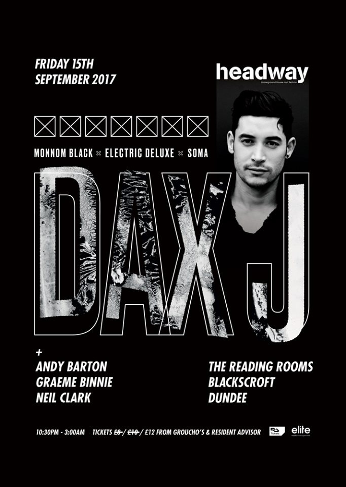 Headway with Dax J - Flyer front