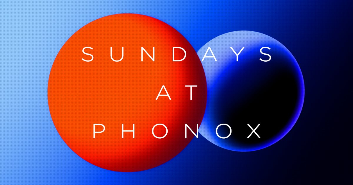 Sundays at Phonox: Gilles Peterson - Flyer front
