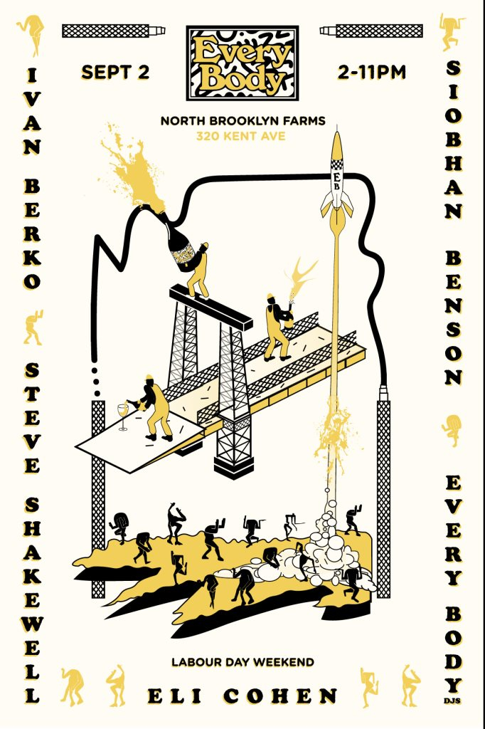 Every Body Labor Day Open Air at NBK Farms - Flyer front