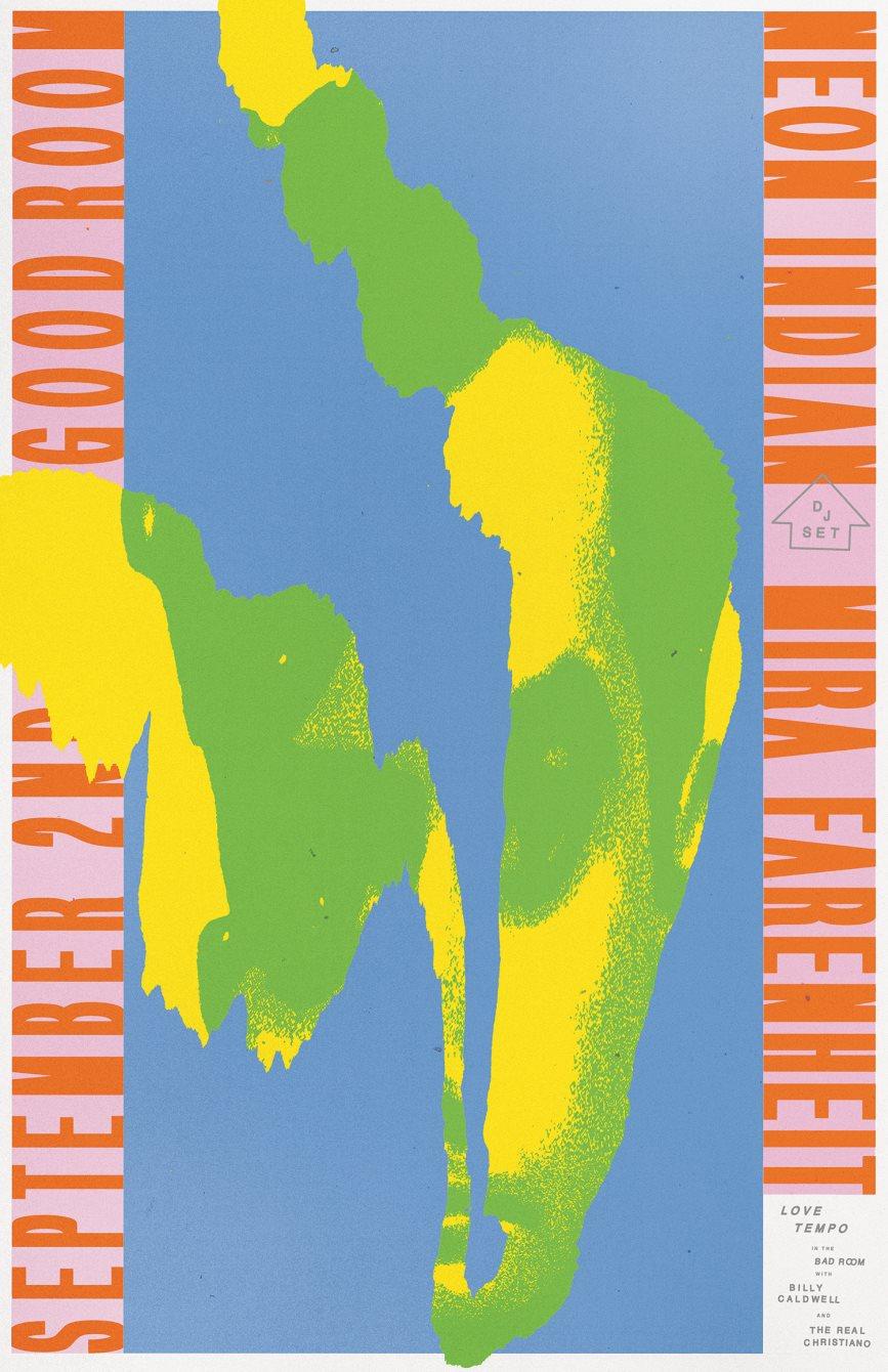 Neon Indian (DJ set), Mira Fahrenheit, Love Tempo - Flyer front
