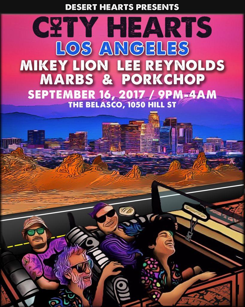 Desert Hearts presents... City Hearts Los Angeles - Flyer front