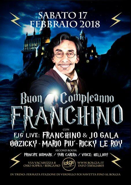 Happy Birthday Franchino - Harry Potter - Flyer front