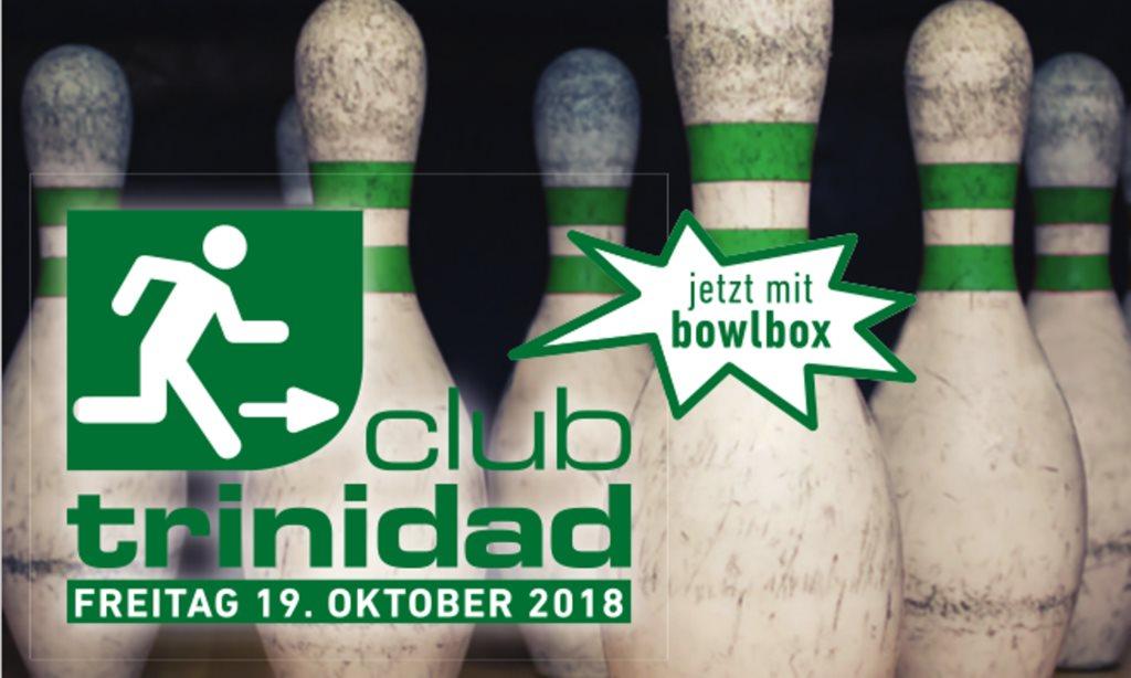 Club Trinidad im Schlips – mit Bowlbox - Flyer front