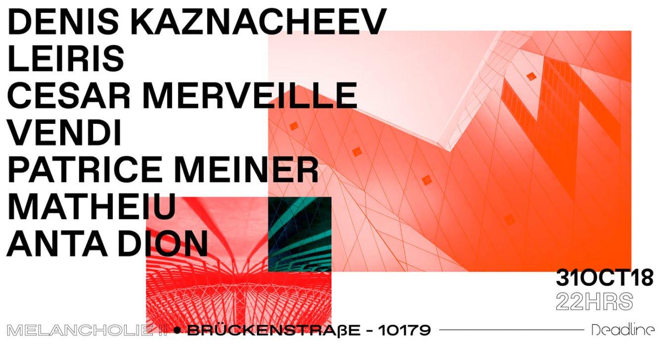 Denis Kaznacheev, Cesar Merveille, Leiris, Matheiu - Flyer front