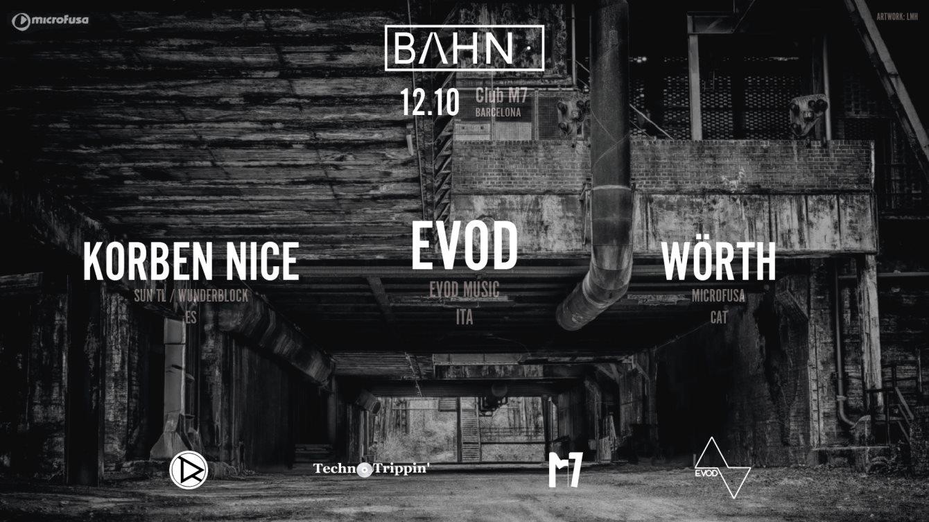 BAHN· 08: Evod + Korben Nice + Wörth - Flyer front