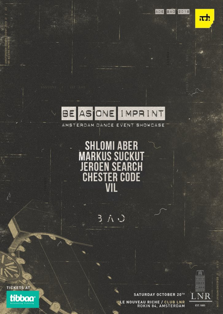 'Be As One' Showcase at ADE - Flyer front