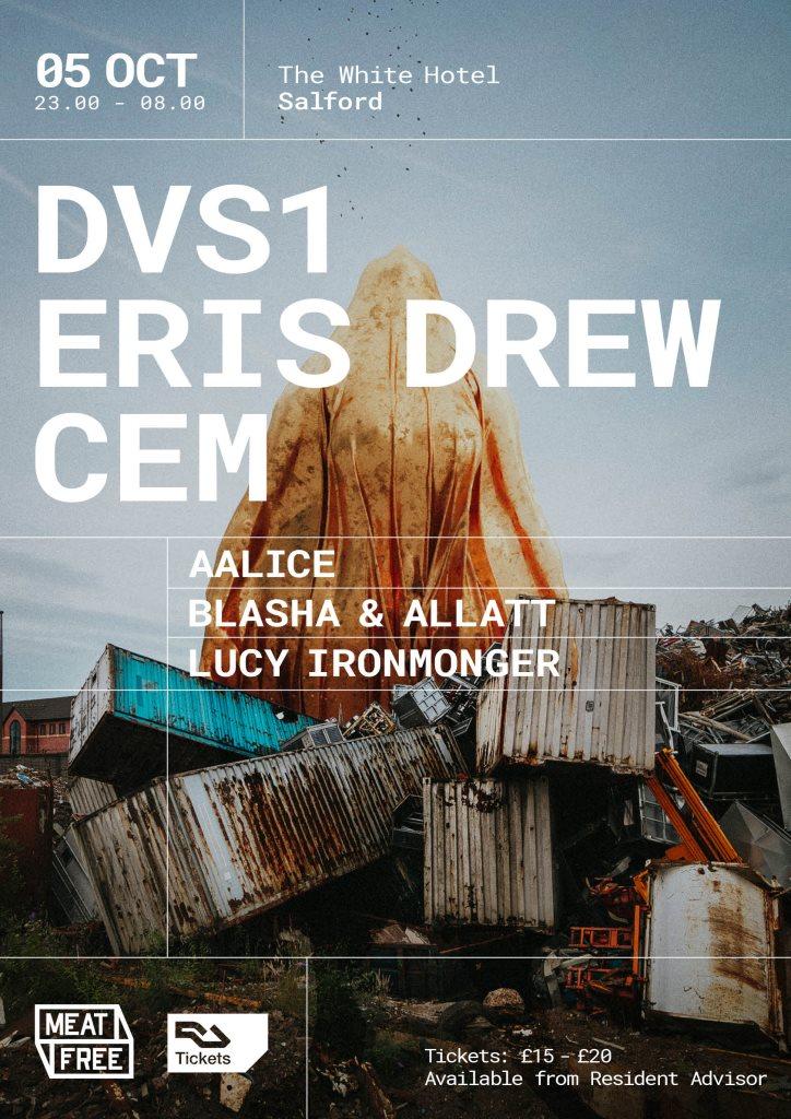 Meat Free with DVS1, Eris Drew & CEM - Flyer front