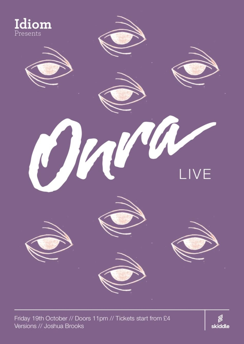 Idiom presents: Onra (Live) - Flyer front