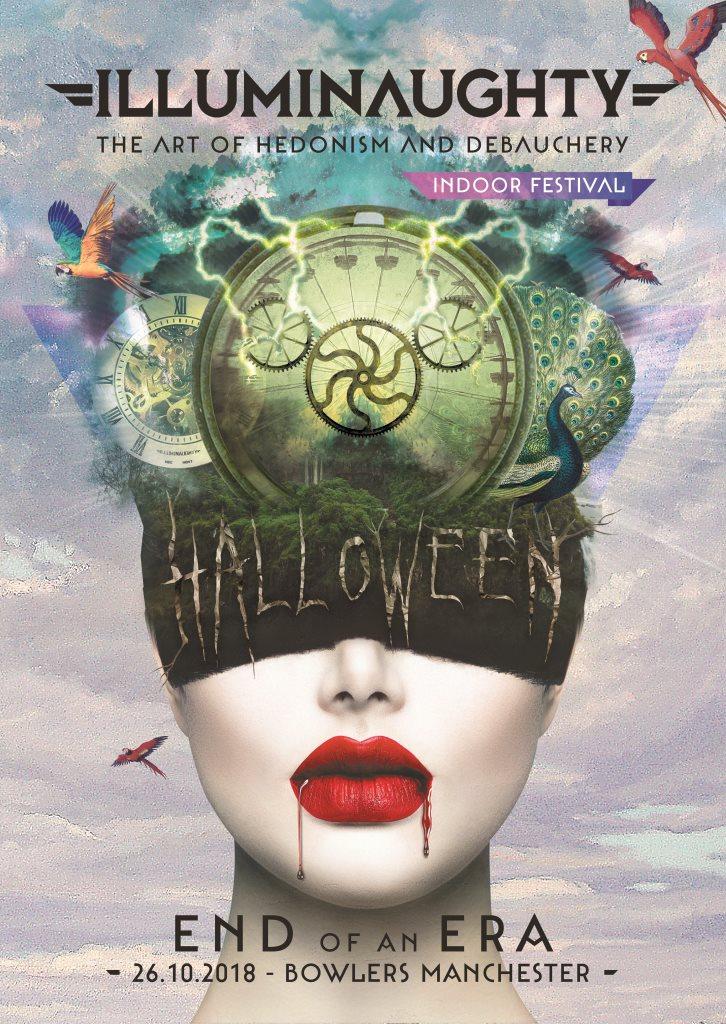 illumiNaughty presents End of an Era - Halloween Indoor Festival - Flyer front