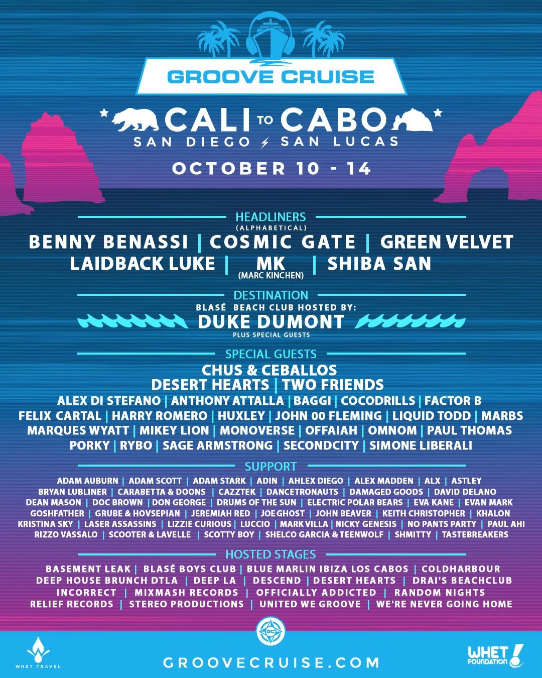 Groove Cruise Cabo 2018 - Flyer front