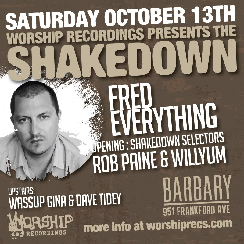 The Shakedown: Fred Everything - Flyer back