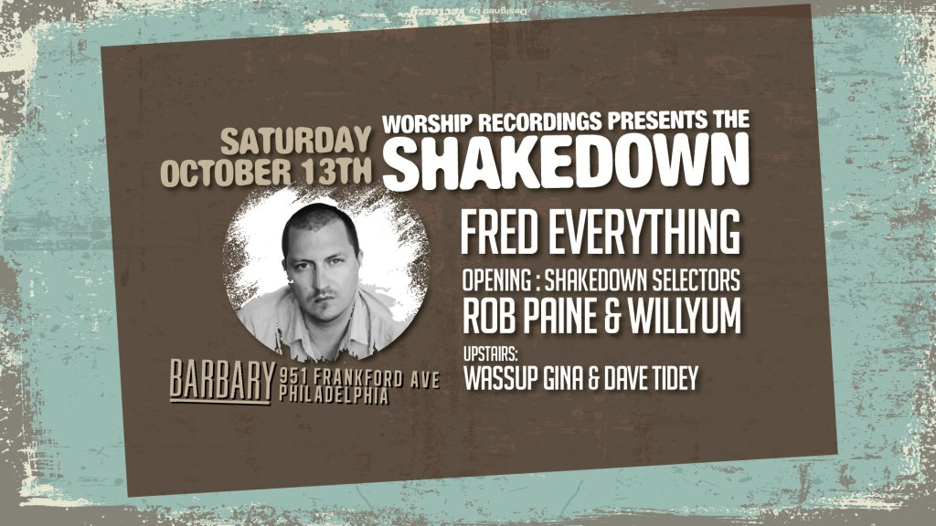 The Shakedown: Fred Everything - Flyer front