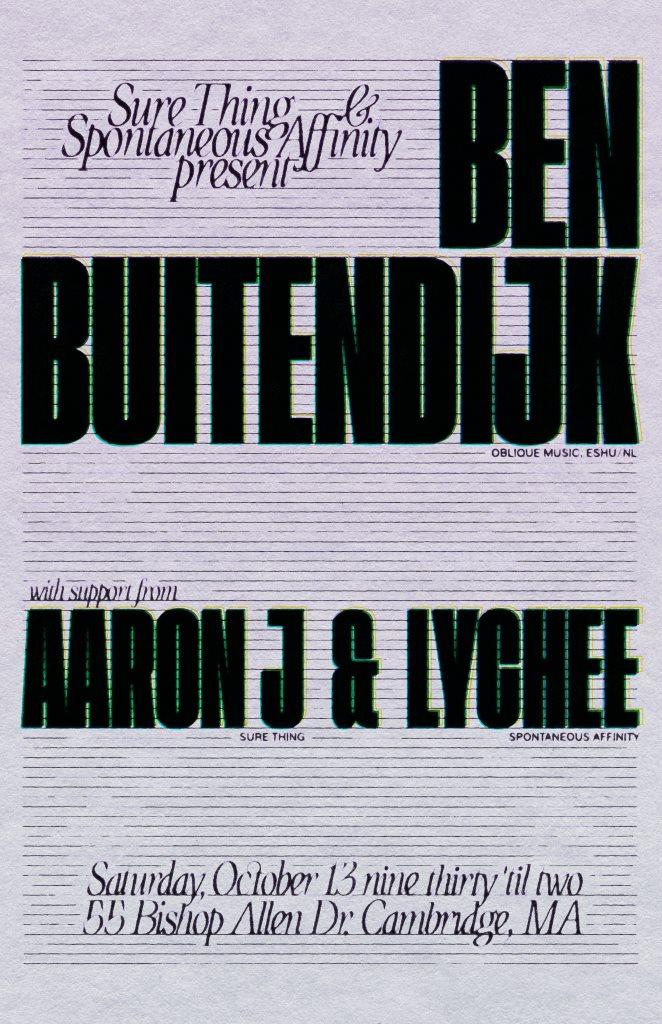 Sure Thing & Spontaneous Affinity: Ben Buitendijk (NL) - Flyer back