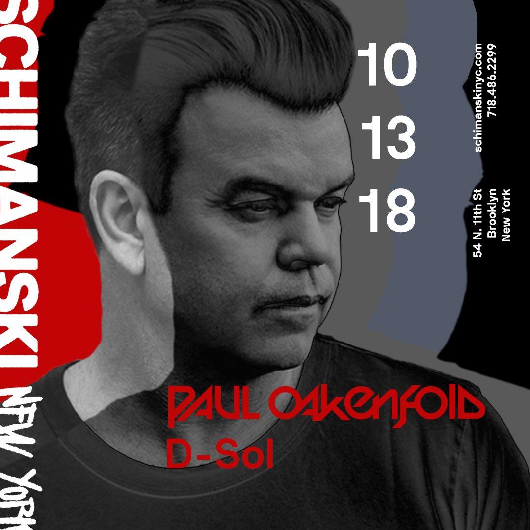 Schimanski presents Paul Oakenfold - Flyer front