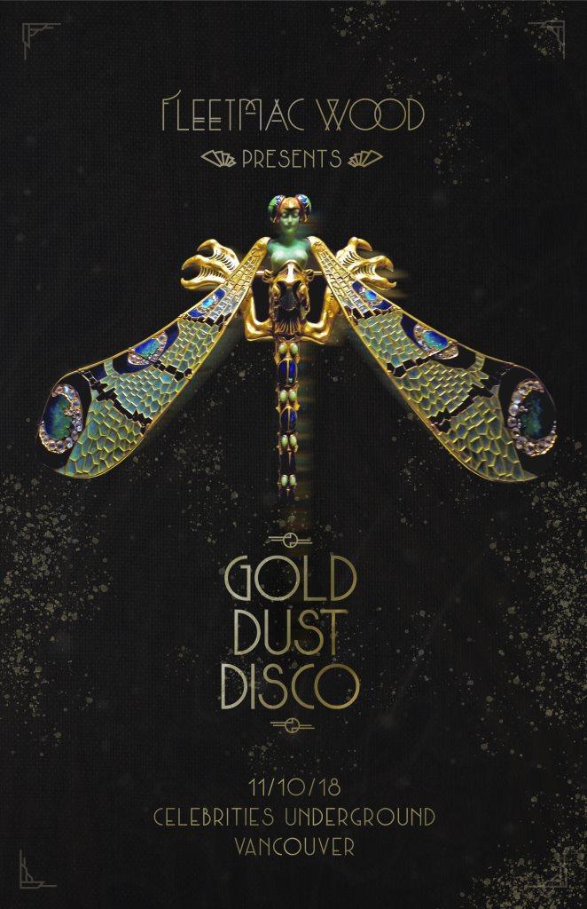 Fleetmac Wood presents Gold Dust Disco - Vancouver - Flyer front