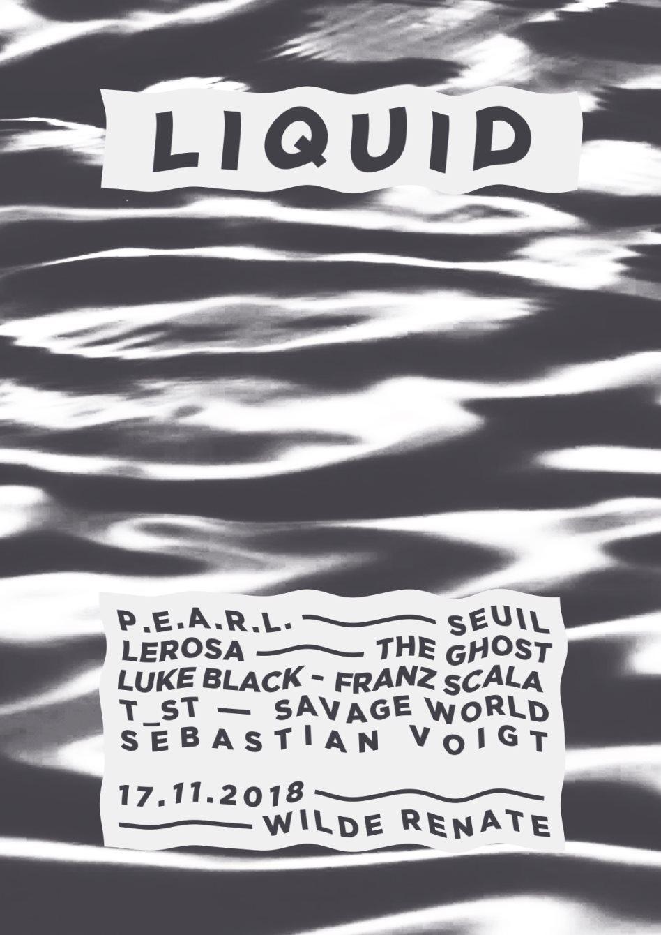 Liquid w. P.E.A.R.L., Seuil, Lerosa & More - Flyer front