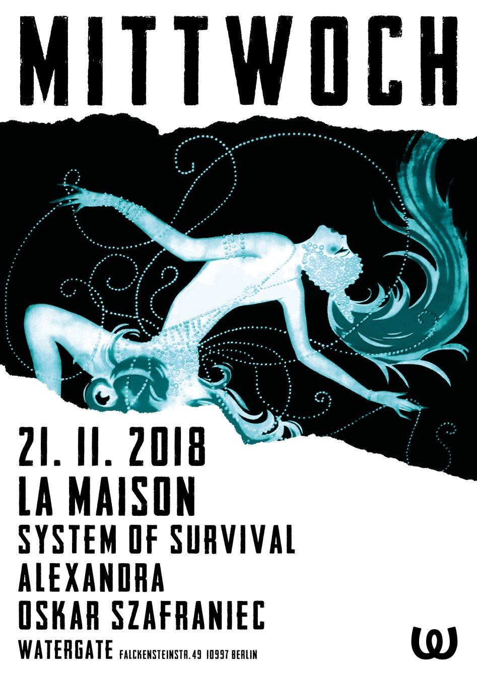 La Maison: System of Survival, Alexandra, Oskar Szafraniec - Flyer front