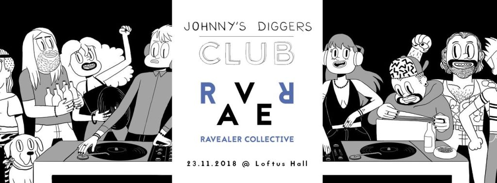The Junction - Ravealer Collective x Johnny's Diggers Club - Flyer front