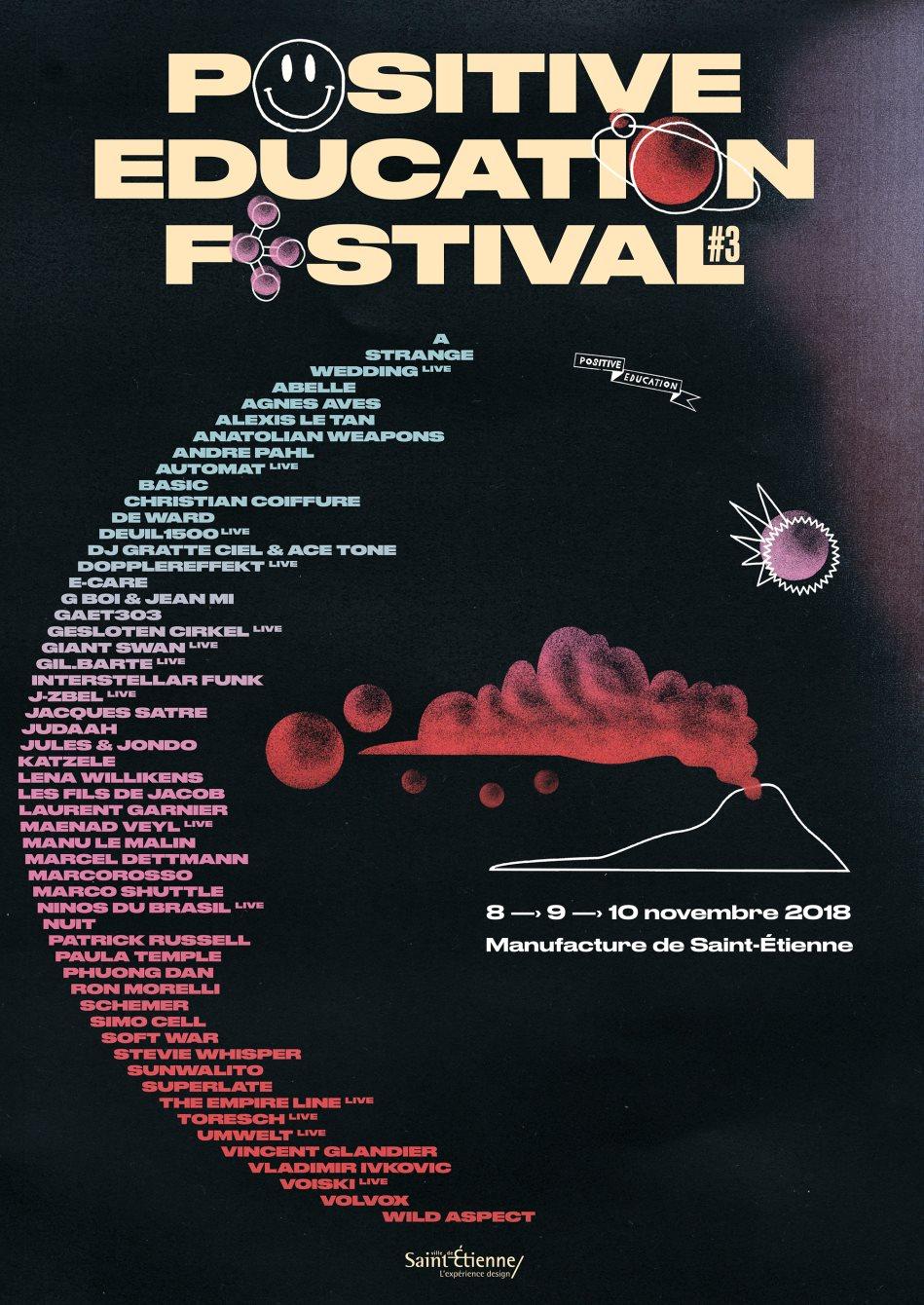 Positive Education Festival #3 - Flyer front