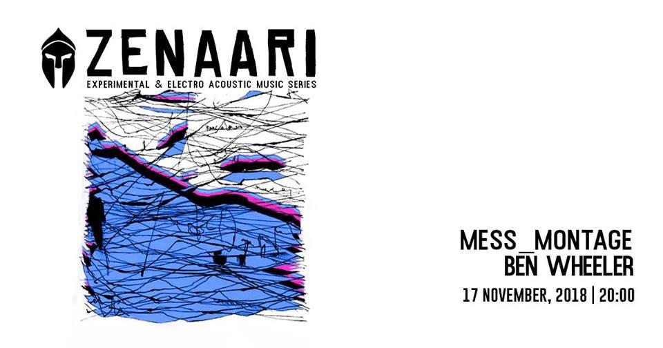 Bassiani / Zenaari: Mess_montage • BEN Wheeler - Flyer front