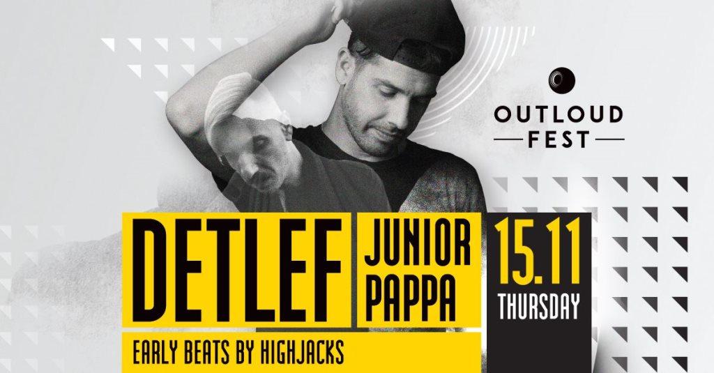 Detlef, Junior Pappa, Highjacks - Regency Casino Thessaloniki - Flyer front