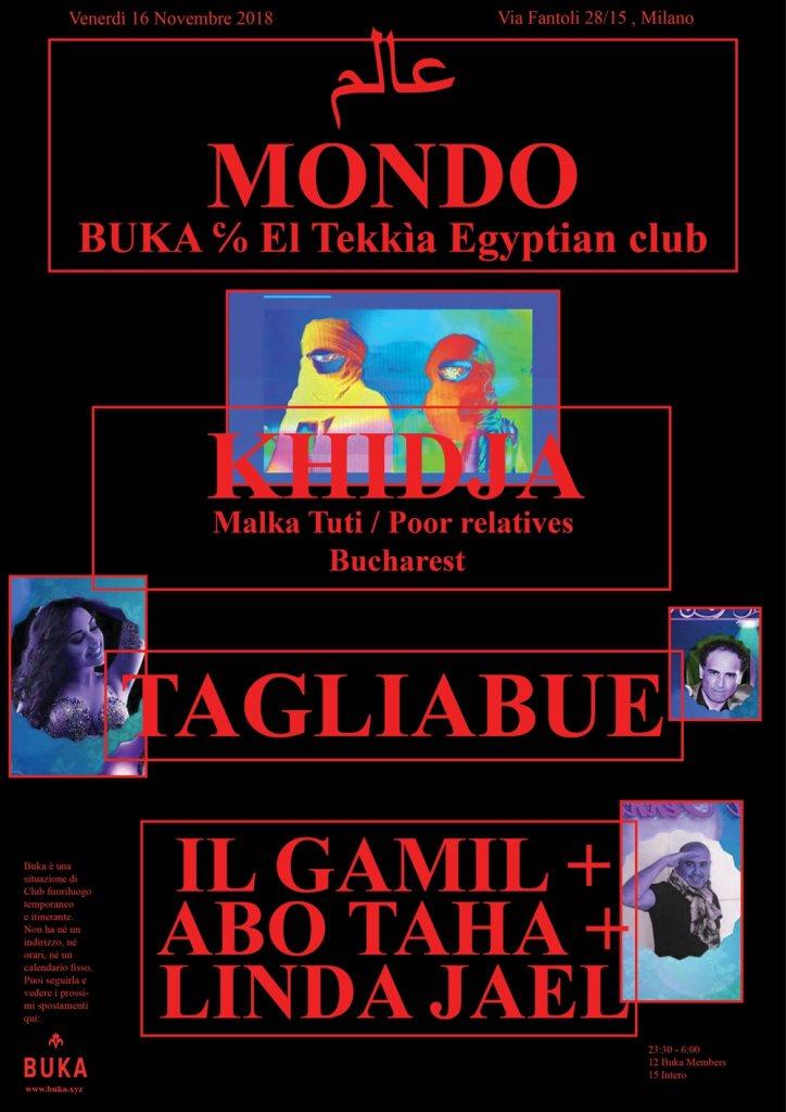BUKA - Mondo con Khidja - Flyer front