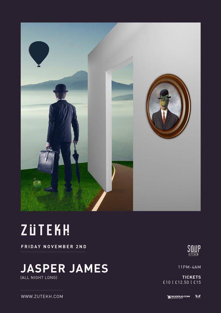 Zutekh presents Jasper James (All Night Long) - Flyer front