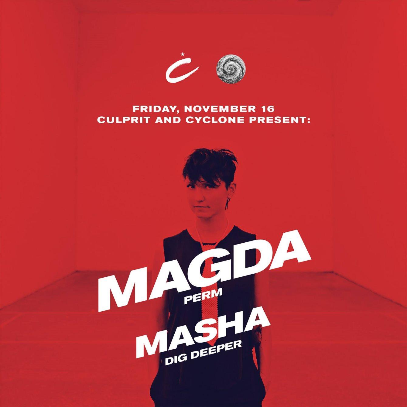 Culprit & Cyclone with Magda & Masha - Flyer front