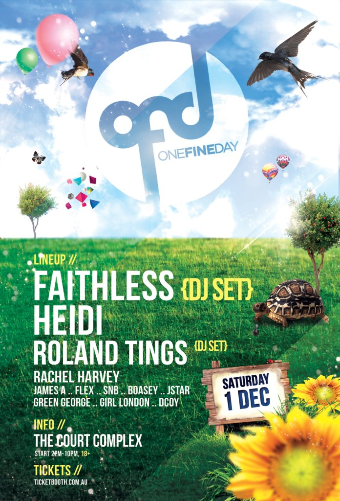 One Fine Day feat. Faithless, Heidi, Roland Tings - Flyer front