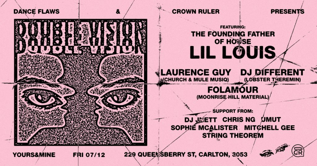Double Vision feat. Lil' Louis, Folamour, Laurence Guy, DJ Different & More - Flyer front