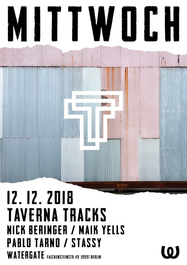 Mittwoch: Taverna Tracks with Nick Beringer, Maik Yells, Pablo Tarno, Stassy - Flyer front