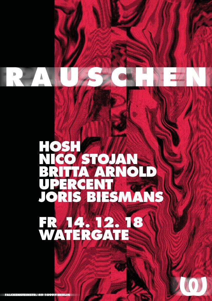 Rauschen: HOSH, Nico Stojan, Britta Arnold, Upercent, Joris Biesmans - Flyer front