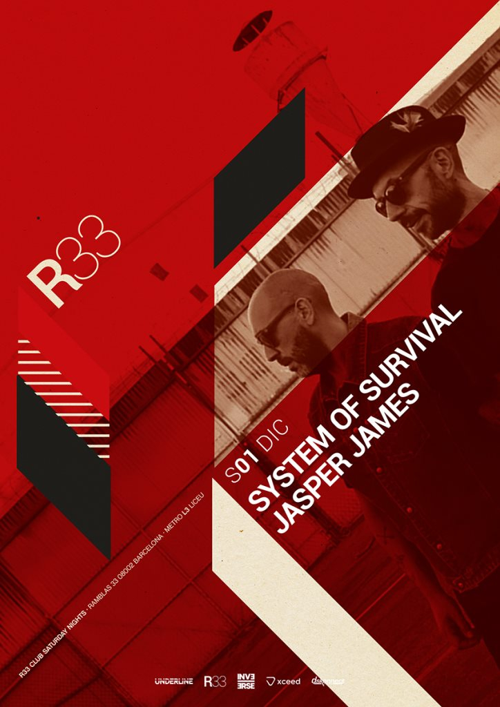 R33 Barcelona with System of Survival - Flyer front