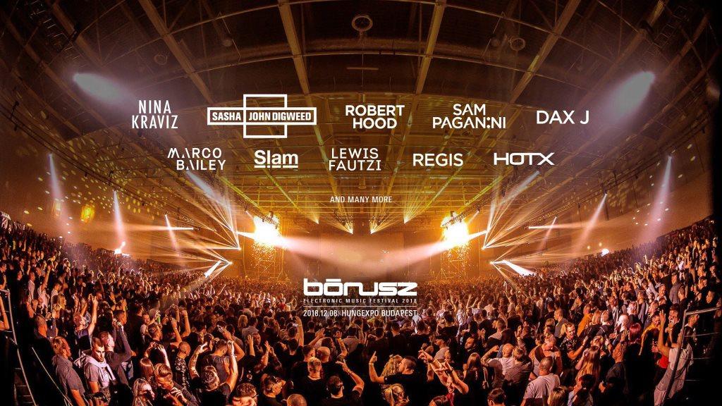 Bónusz Electronic Music Festival 2018 - Flyer front